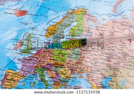 Moscow Russia 07 13 2018 Syringe Stock Photo Edit Now 1137135938