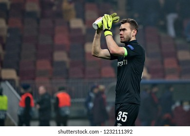MOSCOW, RUSSIA - 07 NOVEMBER, 2018. Luzhniki Stadium. Igor Akinfeev after the match of UEFA Champions League between CSKA (Moscow.Russia) and Roma (Roma.Italy)