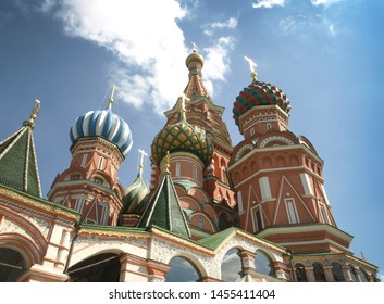 Moscow. Russia. 08.10.17. Architecture of Moscow. St. Basil`s Cathedral St. Basil`s Cathedral, the 16th century.