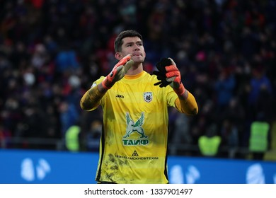 MOSCOW, RUSSIA - 09 MARCH, 2019. Arena CSKA. Egor Baburin in the football match of Russian Premier League 2018/2019 between CSKA (Moscow.Russia) and Rubin (Kazan. Russia)