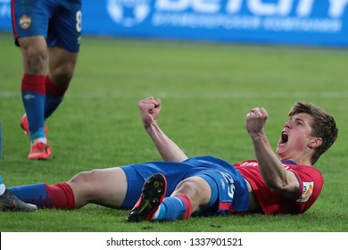 MOSCOW, RUSSIA - 09 MARCH, 2019. Arena CSKA. Jaka Bijol in the football match of Russian Premier League 2018/2019 between CSKA (Moscow.Russia) and Rubin (Kazan. Russia)
