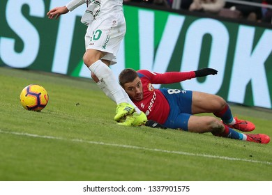 MOSCOW, RUSSIA - 09 MARCH, 2019. Arena CSKA. Nikola Vlasic in the football match of Russian Premier League 2018/2019 between CSKA (Moscow.Russia) and Rubin (Kazan. Russia)