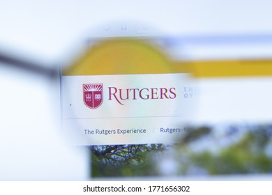 Moscow, Russia - 1 June 2020: Rutgers University - New Brunswick website with logo, Illustrative Editorial.