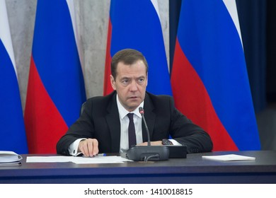 Moscow, Russia 12.20.2016 Chairman of the Government of the Russian Federation Dmitry Medvedev at the final meeting of the Presidium of the Council under the President of the Russian Federation