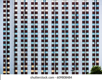 "MOSCOW, RUSSIA - 15 JUNE 2013: Modern tourist hotel complex ""Izmailovo"" in Moscow. Abstraction and geometry in buildings. Abstract contemporary architecture image."