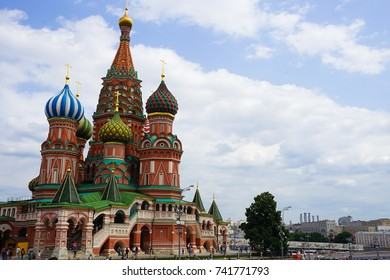 Moscow, Russia - 18 June 2016: Red Square with St Basils Cathedral