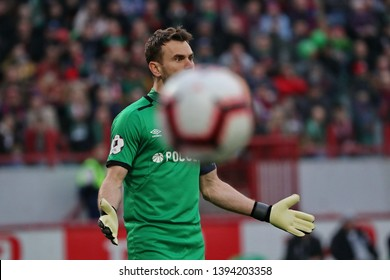 Moscow, Russia, 20 april 2019. RZD Arena. Igor Akinfeev in the football match of Russian Premier League 2018/2019 between Lokomotiv (Moscow.Russia) & CSKA (Moscow.Russia)
