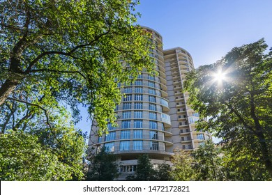 MOSCOW, RUSSIA - 2019-07-25 : Makhaon - Modern residential complex