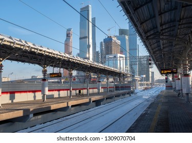MOSCOW, RUSSIA - 22 JANUARY 2019: view of Moscow city