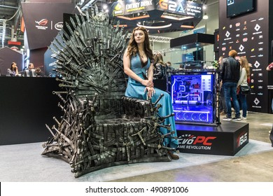 MOSCOW, RUSSIA - 29 SEPTEMBER 2016: Igromir 2016 and ComicCon Russia 2016, game of thrones cosplay