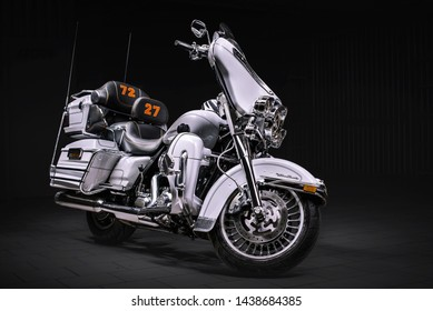 Moscow, Russia - 30 January 2015: Harley-Davidson Ultra Classic Electra Glide