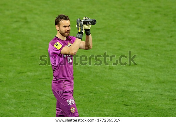 Moscow, Russia, 30 june 2020. VEB Arena.Goalkeeper Igor Akinfeev in the football match of Russian Premier League 2019/2020 between CSKA (Moscow) - Spartak (Moscow)