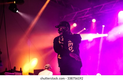 MOSCOW, RUSSIA - 5 SEPTEMBER, 2015 : Clifford Smith known as Method Man from Wu-Tang Clan performing live at Street Fire Festival