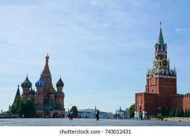 Moscow, RUSSIA - 6 JUNE 2016. Red Square in Moscow