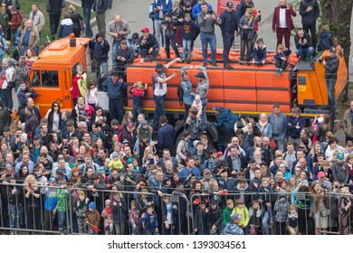MOSCOW, RUSSIA - 9 MAY 2019: Annual parade on Victory Day.