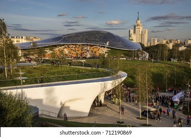 Moscow, Russia. 9th Sept, 2017. Opening the Zaryadye Park near the Red Square at central Moscow, Russia