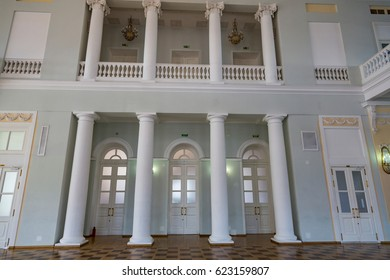 MOSCOW, RUSSIA - APRIL 15, 2017: Pashkov House built in the 18th century. The building belongs to the Russian State Library. Located in the very center of the city on Vozdvizhenka Street. Interior