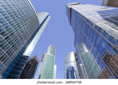 MOSCOW, RUSSIA - APRIL 17: The modern architecture of Moscow on 17 April, 2014  in Moscow, Russia