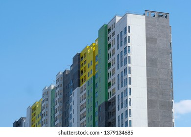 Moscow, Russia - April, 20, 2019: house in a new Residential district in Moscow