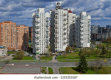Moscow, Russia - April 29. 2018. Recognizable view of the Zelenograd administrative district