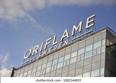 MOSCOW, RUSSIA - APRIL 30: Headquarter of Oriflame company in Moscow on April 30, 2018.