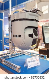 MOSCOW, RUSSIA - AUG 19: Optoelectronic system Ultra Force 350 at the International Aviation and Space salon MAKS on Aug, 19, 2011 at Zhukovsky, Russia