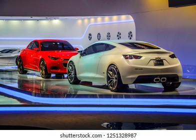 MOSCOW, RUSSIA - AUG 2012: CHEVROLET VOLT CONCEPT presented as world premiere at the 16th MIAS (Moscow International Automobile Salon) on August 30, 2012 in Moscow, Russia