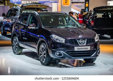 MOSCOW, RUSSIA - AUG 2012: NISSAN QASHQAI presented as world premiere at the 16th MIAS (Moscow International Automobile Salon) on August 30, 2012 in Moscow, Russia