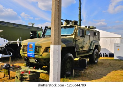 MOSCOW, RUSSIA - AUG 2015: Reconnaissance vehicle KAMAZ-53949 presented at the 12th MAKS-2015 International Aviation and Space Show on August 28, 2015 in Moscow, Russia