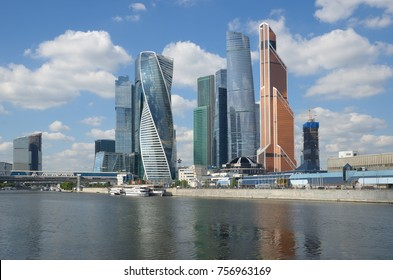 "Moscow, Russia - August 10, 2017: Tower of the Moscow international business center (MIBC) ""Moscow-city"""