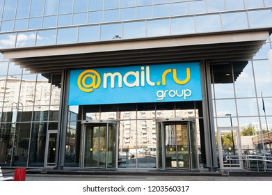 MOSCOW, RUSSIA - AUGUST 12, 2018:  Office of Mail.Ru Group