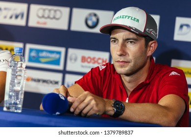 Moscow, Russia - August 19, 2016: Mike Rockenfeller driver of Audi Sport Team Phoenix at DTM stage at Moscow Raceway