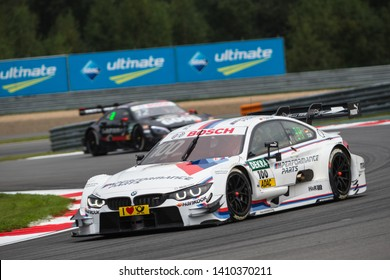 Moscow, Russia - August 19, 2016: Martin Tomczyk (BMW Team Schnitzer) driving a BMW M4 DTM at the DTM stage at Moscow Raceway