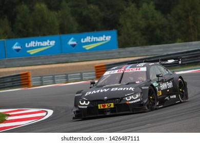 Moscow, Russia - August 19, 2016: Bruno Spengler (BMW Team MTEK) driving a BMW M4 DTM at DTM stage at Moscow Raceway