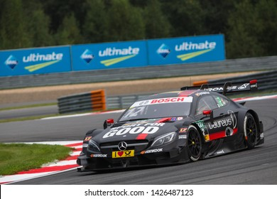 Moscow, Russia - August 19, 2016: Daniel Juncadella driver of Mercedes-AMG DTM Team HWA at DTM stage at Moscow Raceway