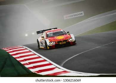 Moscow, Russia - August 20, 2016: Augusto Farfus (BMW Team MTEK) driving a BMW M4 DTM at the DTM stage at Moscow Raceway