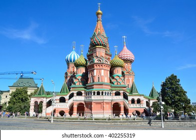 Moscow, Russia, August, 21,2016.  Basil's cathedral on Red square