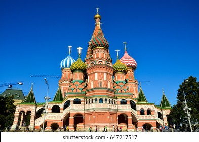 Moscow, Russia - August 22, 2015: Saint Basil's Cathedral