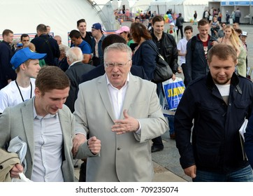 MOSCOW, RUSSIA -  AUGUST 26, 2017: Leader of the Liberal Democratic Party of Russia Vladimir Zhirinovsky at the press festival in Moscow.