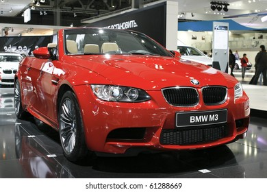 MOSCOW, RUSSIA - AUGUST 27: BMW M3 Cabrio presented at the Moscow International Autosalon on August 27, 2010 in Moscow.