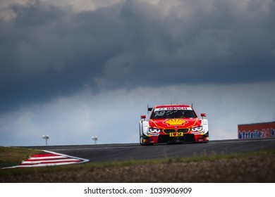 Moscow, Russia - August 28, 2015: Augusto Farfus driver of BMW Team RBM at DTM stage at Moscow Raceway