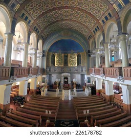 MOSCOW, RUSSIA - AUGUST 30, 2011: The interior of the Moscow Choral Synagogue - the main synagogue for Jews in Russia and in the former Soviet Union.
