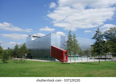 MOSCOW, RUSSIA - CIRCA AUGUST 2016: Garage Museum of Contemporary Art (formerly The Garage Center for Contemporary Culture) designed by Rem Koolhaas