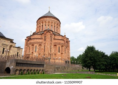 MOSCOW, RUSSIA - CIRCA JULY 2018  Cathedral of the Armenian Apostolic Orthodox Church