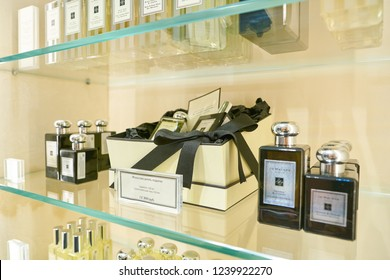 MOSCOW, RUSSIA - CIRCA NOVEMBER,  2018: Jo Malone Perfumes on display at a store in Moscow.
