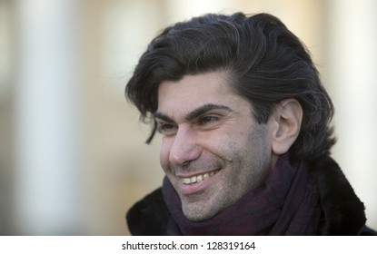 MOSCOW, RUSSIA - DECEMBER 05: Nikolai Tsiskaridze, one of the principal dancers of the Bolshoi Ballet, smiles in front of Bolshoi theater, on December 05, 2012, in Moscow