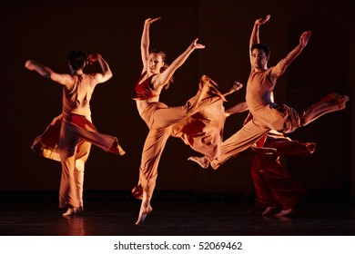 MOSCOW, RUSSIA - DECEMBER 11: Parsons Dance dancers carry out show during its Russia  tour. December 11, 2009 in Moscow, Russia.