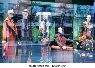 Moscow, Russia - December, 2018: Fashion Week Etro shopping. Luxury store Etro in Moscow.