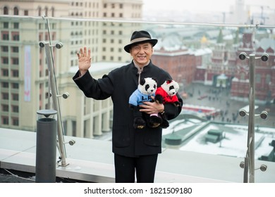 Moscow / Russia - December 7, 2012, Jackie Chan in front of Kremlin