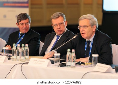MOSCOW, RUSSIA - FEB 15: Alexei Kudrin - ex Minister of Finance of the Russia at G20 Finance Ministers and Bank Governors Deputies Meeting on February, 15, 2013 in Ritz-Carlton Hotel, Moscow, Russia